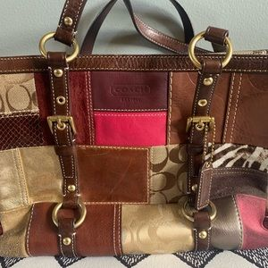 Coach Gallery Holiday Patchwork Tote